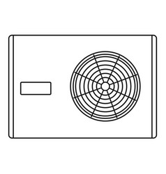Air compressor icon outline style vector