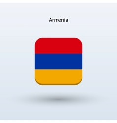 Armenia flag icon vector