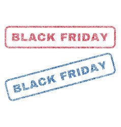 black friday textile stamps vector image