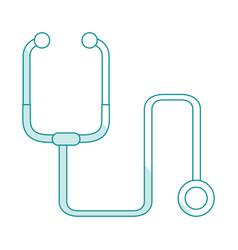 Blue silhouette shading cartoon stethoscope vector