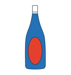 champagne bottle drink alcohol wedding celebration vector image