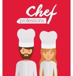 chef profession design vector image vector image