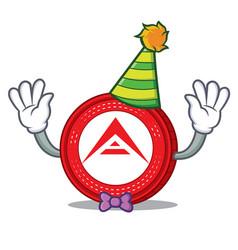 Clown ark coin mascot cartoon vector