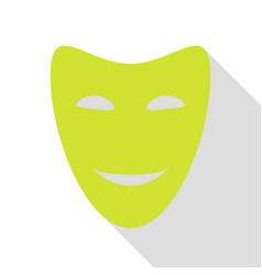 Comedy theatrical masks pear icon with flat style vector