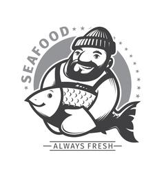 Commercial Fishing emblem vector image