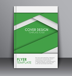 Cover Material design style vector image vector image