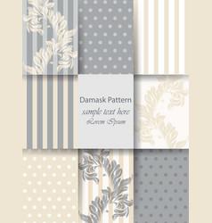 Decoration ornaments pattern set classic vector