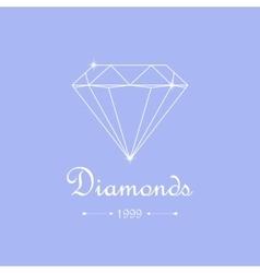 Diamond shopping emblem vector image vector image