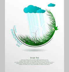 ecological banner vector image vector image
