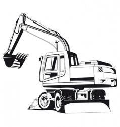 Excavator outline vector