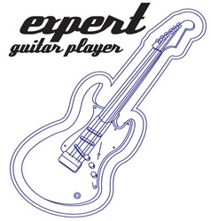 Expert guitar player vector