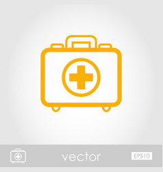 First aid kit outline icon summer vacation vector