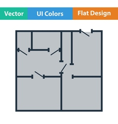 Flat design icon of apartment plan vector image