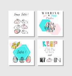 Hand made collage abstract easter greetings vector