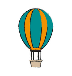 hot air balloon icon image vector image