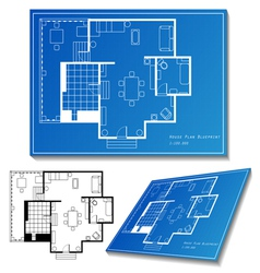 House plan set vector image