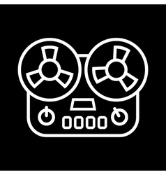 old tape recorder vector image vector image
