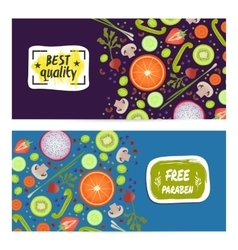 Paraben free horizontal flyers set vector