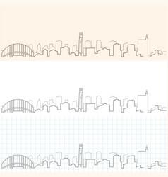 Raleigh hand drawn skyline vector