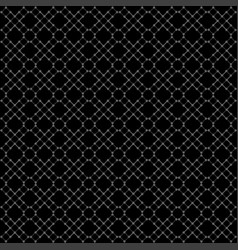 seamless black geometric pattern vector image vector image