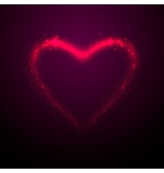 Shine glow pink heart vector