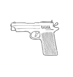sketch of the gun vector image