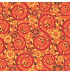 Swirl floral seamless vector image vector image