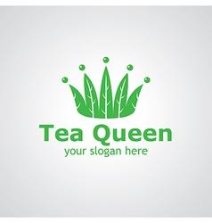 tea queen vector image vector image