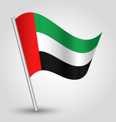 United arab emirates flag on pole vector