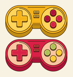 Vintage game joystick gamepad icon vector
