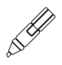white figure highlighter pen icon vector image