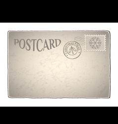 Xmas retro postcard vector image vector image
