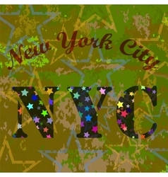 New york t-shirt emblem starry basketball logo vector