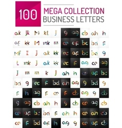 Mega collection of 100 initial letter logo vector