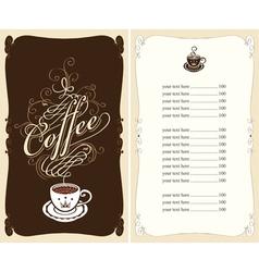black coffee vector image