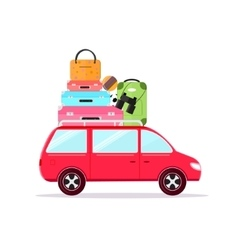 Travel car tourism and vacation together vector