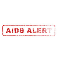 Aids alert rubber stamp vector