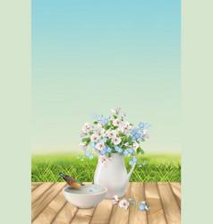 Floral landscape vector