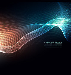 Abstract digital particles flowing background in vector