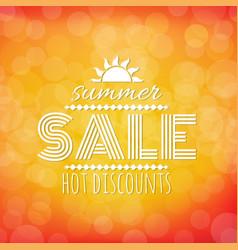 Summer sale banner with bokeh vector