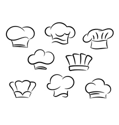 Chef and cook hats set vector image