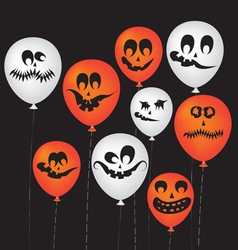Halloween ghost balloons vector