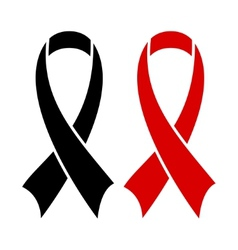 Aids ribbon black vector