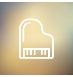 Piano thin line icon vector
