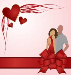 Valentines day couple vector