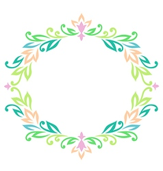 vintage ellipse frame color vector image