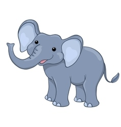 Happy elephant isolated on white vector