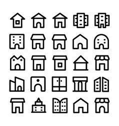 Buildings and furniture icons 10 vector