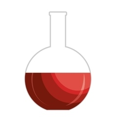 Blood test sample isolated icon vector