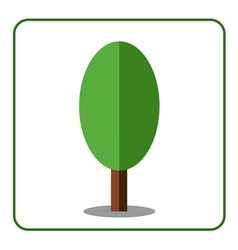 Oak poplar tree icon flat sign vector